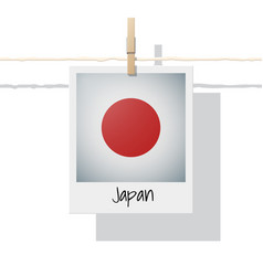 Photo of japan flag on white background vector