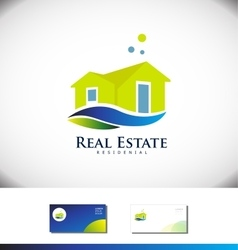 Real estate house villa logo icon design vector