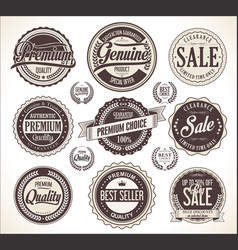 retro vintage badge and labels collection vector image