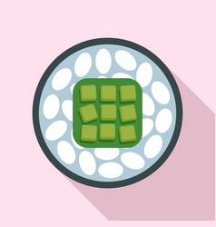 rice sushi icon flat style vector image