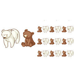seamless background design with bear and polar vector image