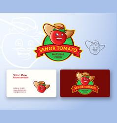 Senor tomato abstract logo and business vector