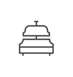 Service bell line icon vector
