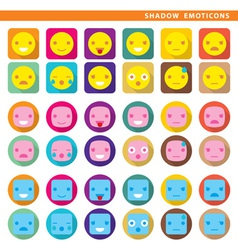 Shadow emoticons vector