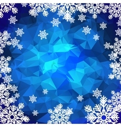 Snowflakes polygonal background vector image vector image
