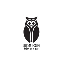 Stylized owl on white background vector image