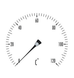 Thermometer temperature gauge vector