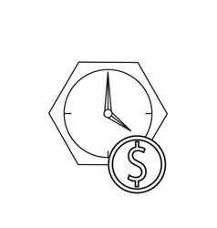 Time is money icon vector