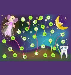 Tooth fairy reward children who loose their baby vector