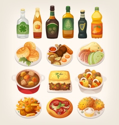 Traditional Irish cuisine vector image