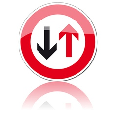traffic signs vector image