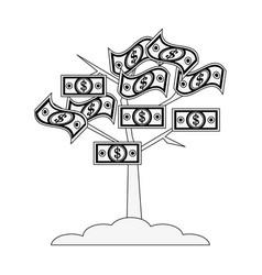Tree with dollar bill money icon image vector