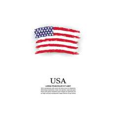 usa flag in grunge style vector image