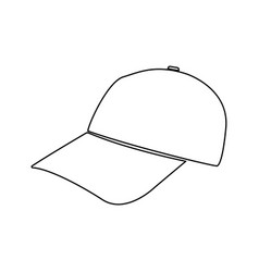 Baseball cap black color path icon vector