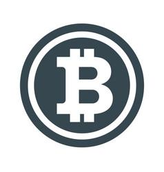 bitcon icon white vector image