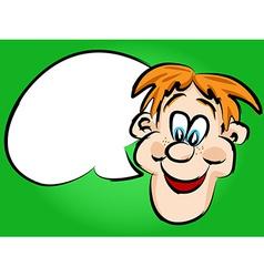 Cartoon guy talking vector image vector image