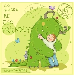 Green Concept 1 - Hand drawn series vector image vector image