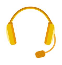 headphones icon isolated audio design sound vector image