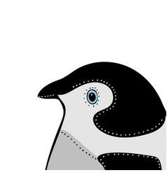 penguin cute animal head funny cartoo vector image vector image