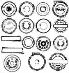 rubber stamps set vector image vector image