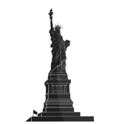 Statue of Liberty New York landmark flat vector image vector image
