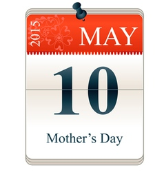 Calendar of mothers day 2015 vector image vector image