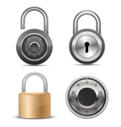 Collection of locks vector image vector image