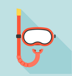 diving mask and snorkel icon vector image