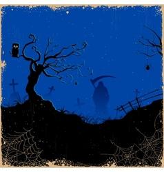 Grim in Halloween night vector image vector image