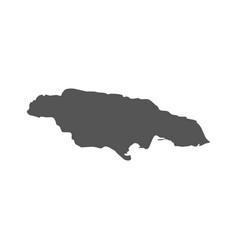 jamaica map black icon on white background vector image