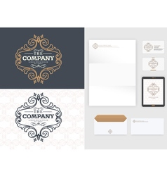 Luxurious logo design Real estate vector image vector image