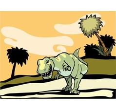 Tyrannosaurus Rex Landscape vector image