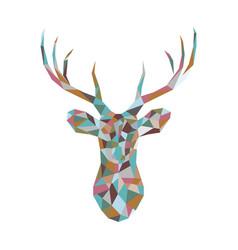 Colorful polygonal deer head vector