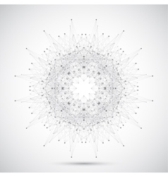 Geometric abstract form with connected line and vector image vector image