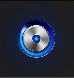 Glossy media player metal button vector image vector image