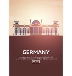 travel poster to germany landmarks silhouettes vector image