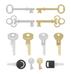 twelve keys vector image vector image