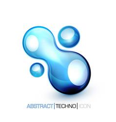 blue fluid concept vector image vector image