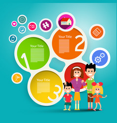 family infographic concept colorful paper vector image vector image