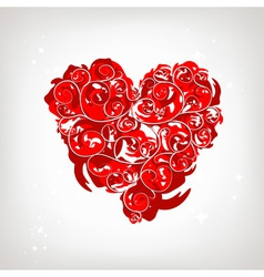 Heart shape floral ornament for your design vector image vector image