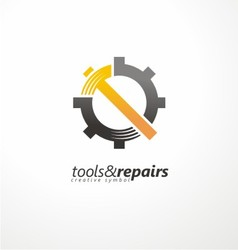 Industrial logo design vector image vector image