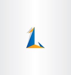 logo letter l triangle icon sign vector image vector image