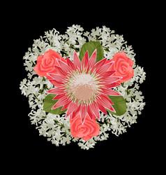 Romantic bride bouquet vector