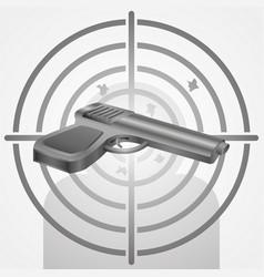 target with gun shooting range vector image