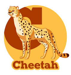 Abc cartoon cheetah vector