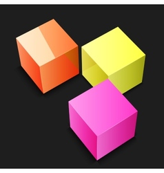 Abstract cubes background vector