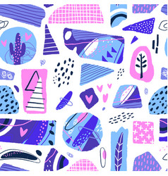 abstract seamless pattern modern background with vector image
