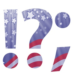 american question mark vector image