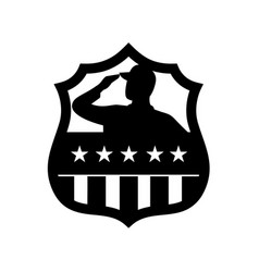 american veteran soldier saluting usa stars vector image