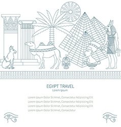 Ancient egypt set travel vector